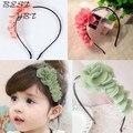 1 PCS 2014 Design de moda bebés meninas crianças crianças crianças flor Headband Hairband acessórios de cabelo desgaste Bow