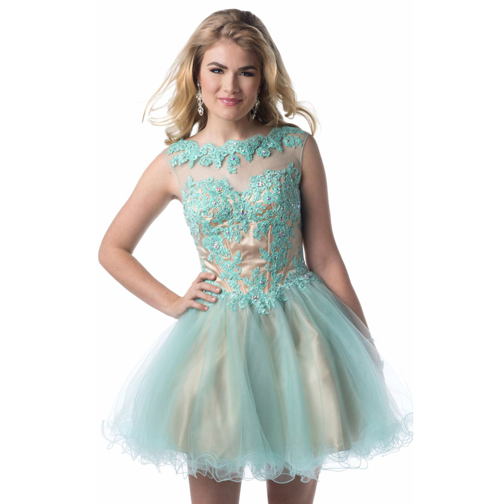 Hot Sale !! Light Blue Lace Cheap Homecoming Dresses Plus ...