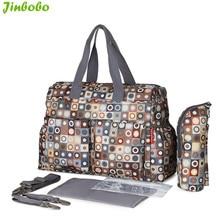 5 PCS/SET 2016 Baby Nappy Bags Diaper Bag Mother Shoulder Bag Fashion Maternity Mummy Handbag Waterproof Baby Stroller Bag NEW