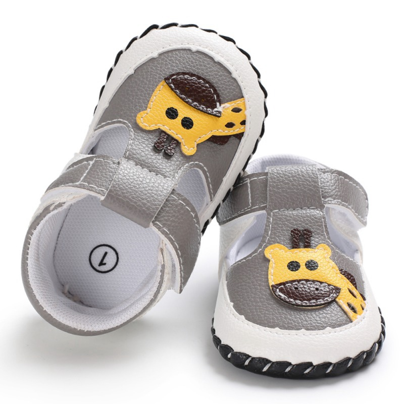 Summer Baby Shoes Kids Boy Girl Cute PU Soft Sole Anti-slip Cartoon Animal Crib Shoes First Walkers Walking Shoes