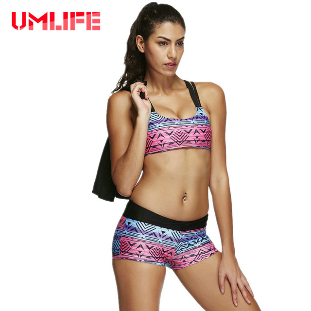 f68545ee69 2019 Sexy Swimsuit Three Pieces Women Printed Tankini Set Bathing Suits  Halter Plus Size Swimsuits With Shorts Push Up Monokini