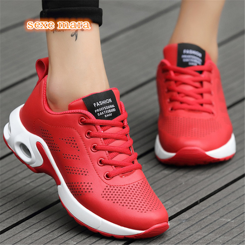 Air Cushioning Running Shoes For woman Sport Shoes Women Sneakers Gym Outdoor Jogging Walking zapatos de mujer 2018 autumn sneakers women breathable mesh running shoes damping sport shoes woman outdoor blue walking zapatos de mujer betis