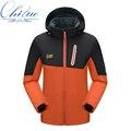 Новые осенние и зимние мужчин и женщин мягкая оболочка куртка водонепроницаемый ветрозащитный теплая куртка пальто мода досуг тонкий слой