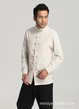 Chinese Tradtional Costume Men's  Cotton Tops Size M-3XL
