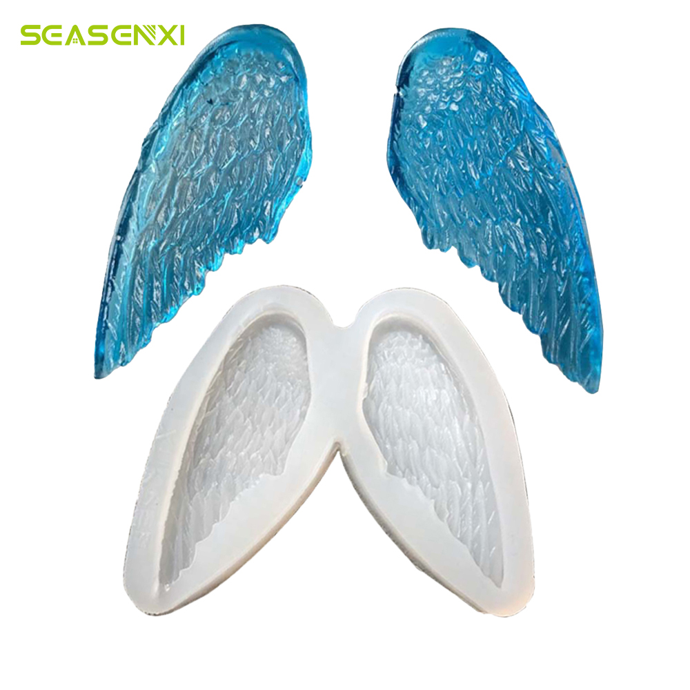 SEASENXI Angel Wings Fondant Silicone Mold DIY Baking Kitchen Tools ...