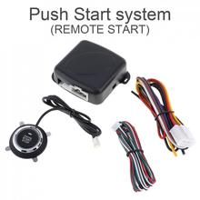 12V Universal Auto Car Push Start System Support Remote Control 10 Mins Countdown Stop and A Key /