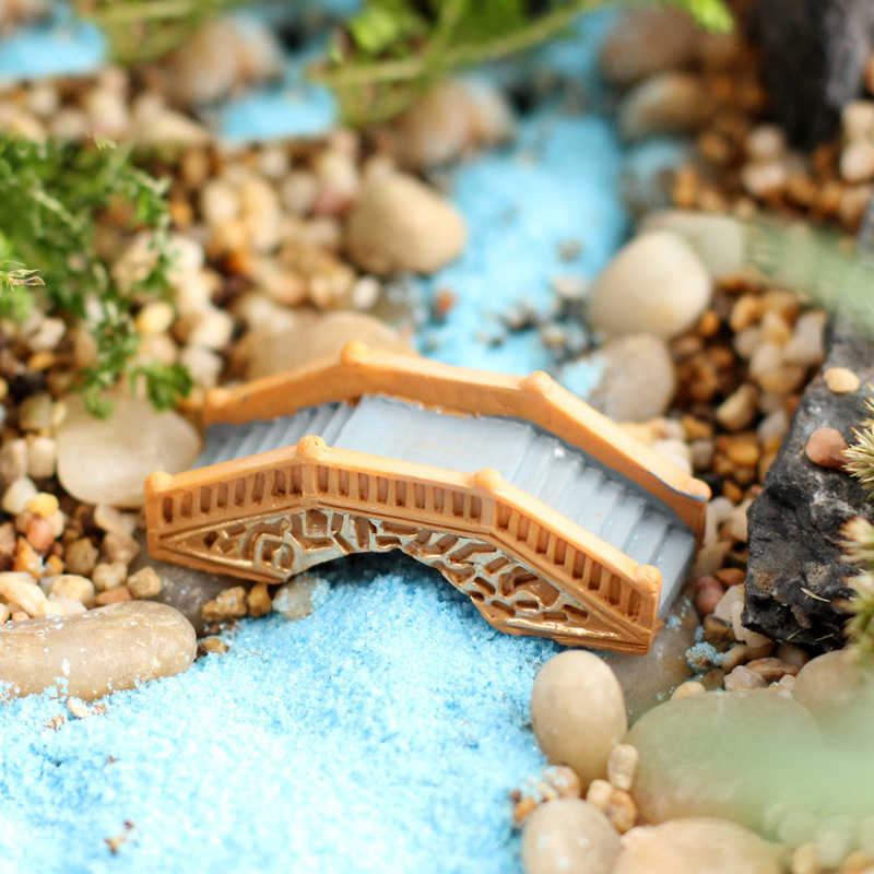 Resin Bridge Fairy Garden Miniatures Terrarium Mini Arch Decoration Craft Miniature Fairy Figurines Fairy Garden Miniatures