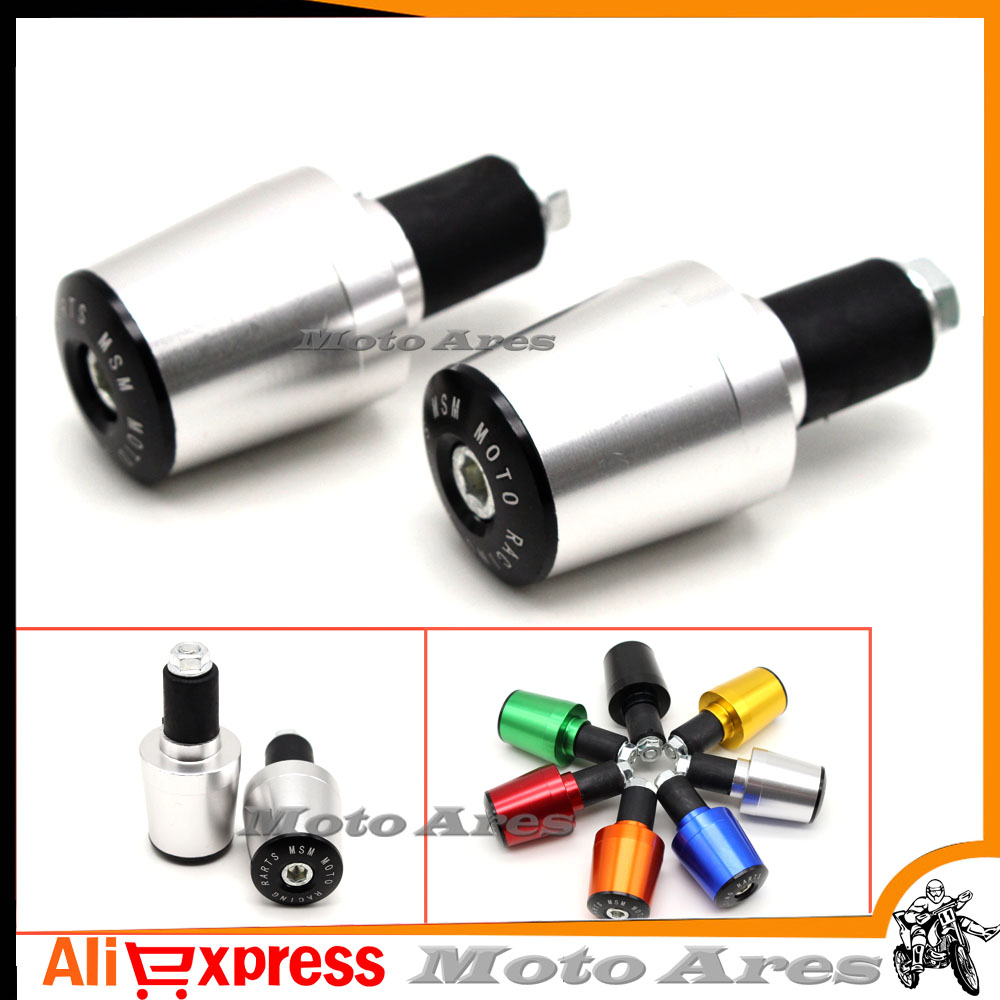 Motorcycle Bar End Weights Anodized Silver for 22mm 7//8 Handlebars