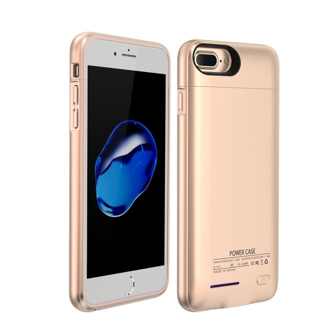 official photos 4a6b5 d3981 For iPhone 6 6s 7 plus External Battery Charger Case Cell Phone Power Bank  Powerbank Charging Cases Cover Built in Metal Sheet