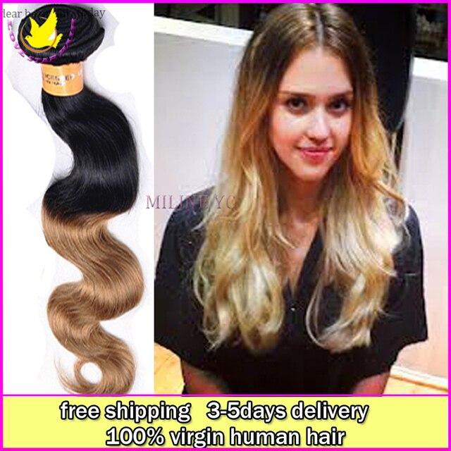 Cheap Malaysian Virgin Human Ombre Body Wave Hair 6a Grade 4 Bundles