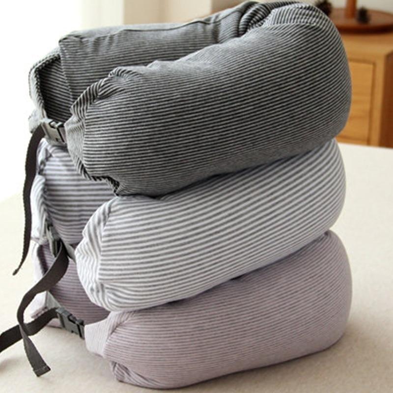 U shape Travel Neck Pillow Cotton Pillows massager ...