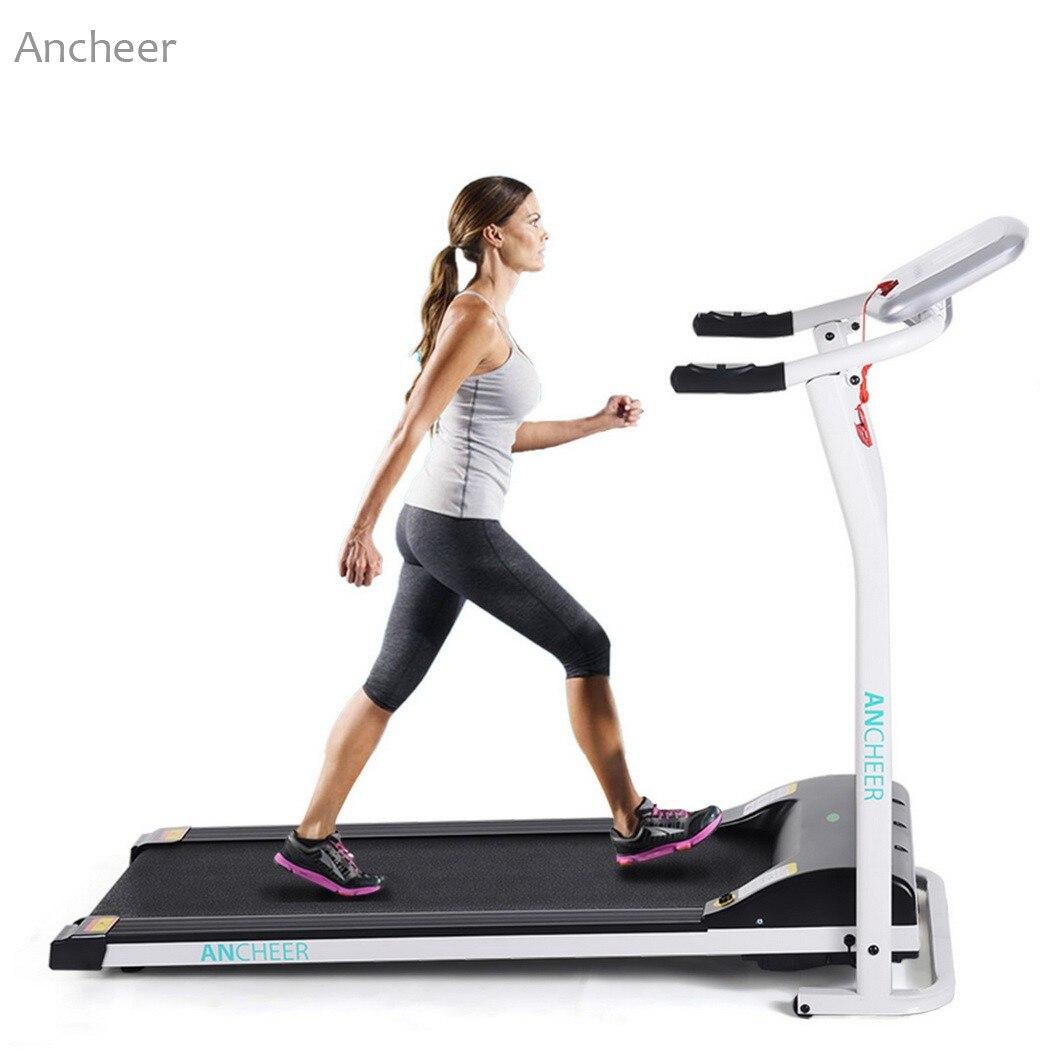 ANCHEER jaunais elektriskais skrejceļš Mini salokāms elektriskais skriešanas trenažieris fitnesa skrejceļš sākums ES US Plug Sports Fitness