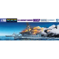 Aoshima 01030 1 700 US Aircraft Carrier WASP Assembly Scale Military Ship Model Building Kits TTH
