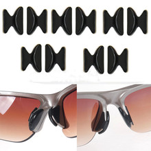 Высокое качество, 5 пар, мягкая Нескользящая силиконовая носовая фиксирующая Накладка для очков, солнцезащитных очков