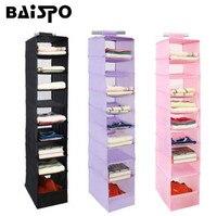 BAISPO Suspendus Boîte Organisateur Sous-Vêtements Stockage De Chaussures De Vêtements De Tri Boîte Porte Mur Placard Organisateur Placard Organisateur Sac