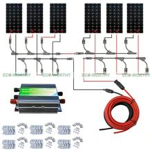ECO 6PCS 100W Mono Solar Panel 600W 24V off Grid Battery Power Charge Cmping RV