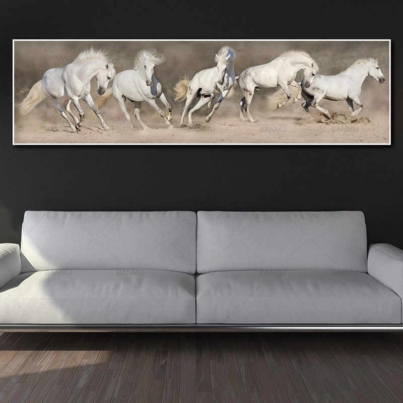 Картина на холсте Художественная печать настенные художественные картины лошадь на холсте и плакат без рамки настенная художественная живопись украшение для гостиной
