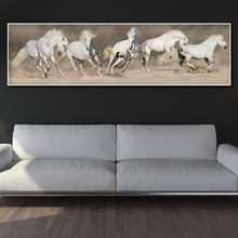 canvas painting art print wall art pictures horse on canvas and poster no frame wall art Painting decoration for living room(China)