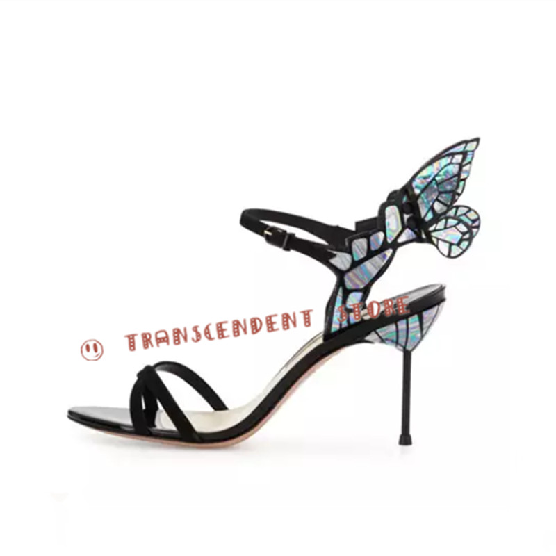 Choudory High quality Butterfly Wings Women High Heels Bowtie Summer Shoes Sandals Women Open Toe Buckle Strap Fashion Pumps