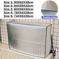 5 크기 에어 컨디셔너 먼지 커버 수호자 양면 야외 후드 외부 방수 sunproof 깨끗한 보호 커버|에어컨 커버|홈 & 가든 -