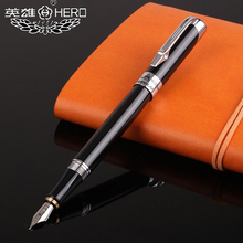 Free Shipping Hot Selling Hero 2386 Metal Fountain Pen Business Executive Luxury Crystal Gold Pen Buy 2 Pens Send Gift