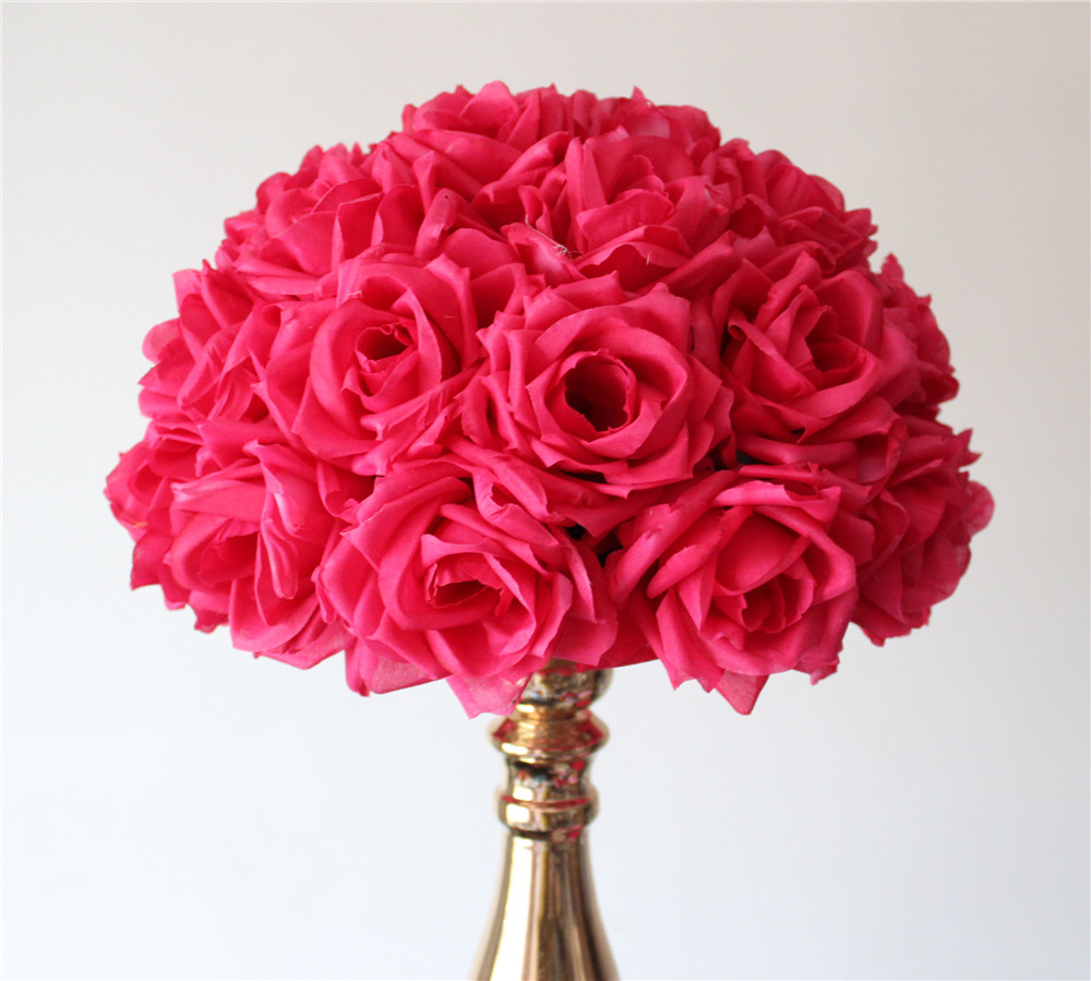 High quality mint roses buy cheap mint roses lots from high 28 30cm12pcslot plumfuschia hanging flower ball centerpieces silk rose dhlflorist Gallery