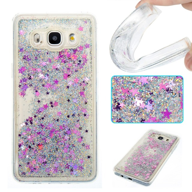 quality design fdc0a a6534 US $2.99 25% OFF|Sparkle Quicksand Glitter Stars Flowing Water Liquid Case  For Samsung Galaxy J5 J3 J7 2016 A3 A5 G530 G360 TPU Cover Phone case-in ...