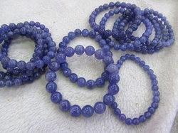 AA+Grade 8-16mm Tanzanite Beads, Genuine Tanzanite Gemstone Beads, Blue Tanzanite Stone Beads Jewelry Bracelet