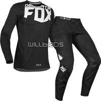 2019 Delicate Fox Motorbike MX 360 Kila Jersey Pants Motocross Dirt bike MTB ATV Adult Race Gear Set Black