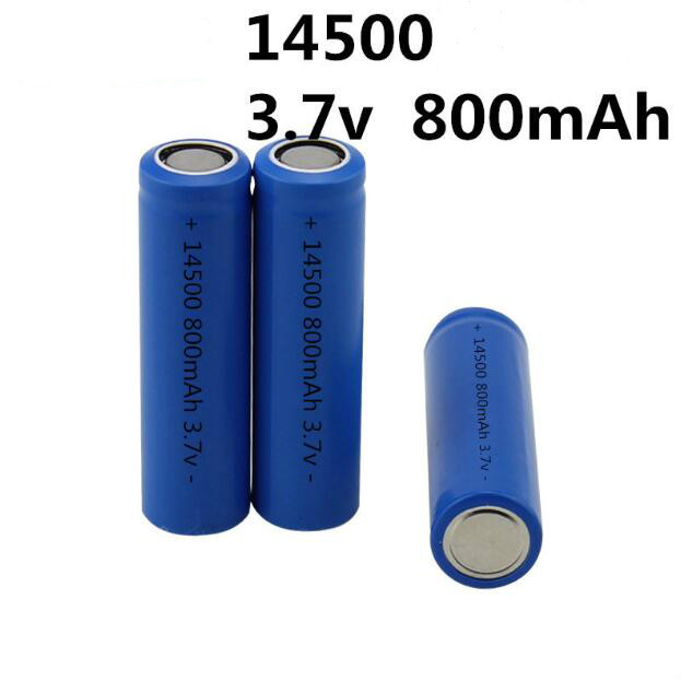 2pcs/lot 14500 800mah 3.6V rechargeable Li-ion battery with flat top for electric shaver toothbrush Very cheap image
