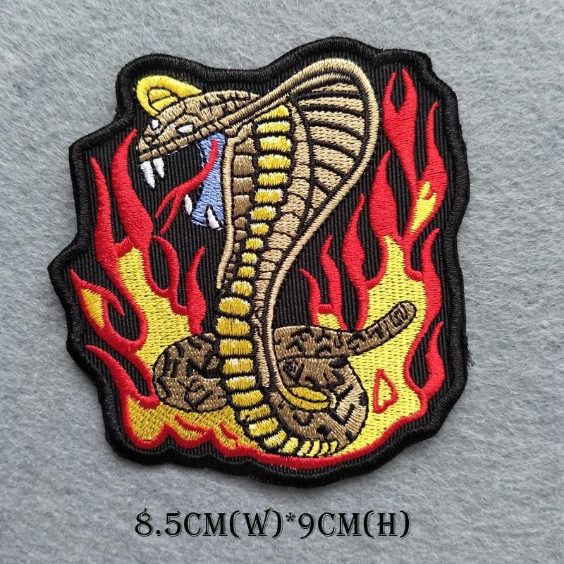뱀 자수 아플리케 패치 장식 의류 조끼 재킷에 꿰매고 철