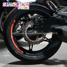 4 Strips Voor Ktm Duke 125 200 250 390 690 790 990 1290 RC8 RC390 Wiel Sticker Reflecterende Velg Fiets motorfiets