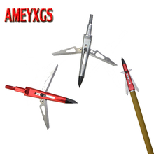 3/6/12pcs Archery Fixed 2 Blade Broadhead 6.6g Arrowhead Stainless Alloy Hunting Arrow Accessory