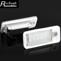 Auto Vehicle License Plate Lamp 18 LEDs Number License Plate Light Cool White Lamp Audi A3