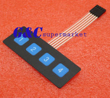 New 1x4 Key Matrix Membrane Switch Control Panel Slim Keyboard Keypad Large original new control panel keyboard power switch board panel for epson l850 l810 printer pcb panel assembly