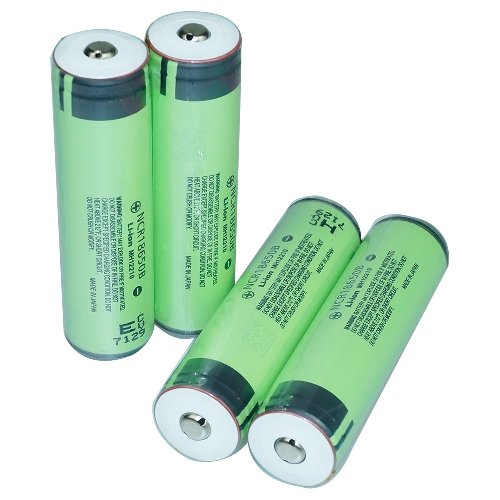 4pcs 3400mAh 18650 Protected Rechargeable Battery for Flashlights Headlamp Li-ion Button Top Battery (Panasonic NCR18650B cell)