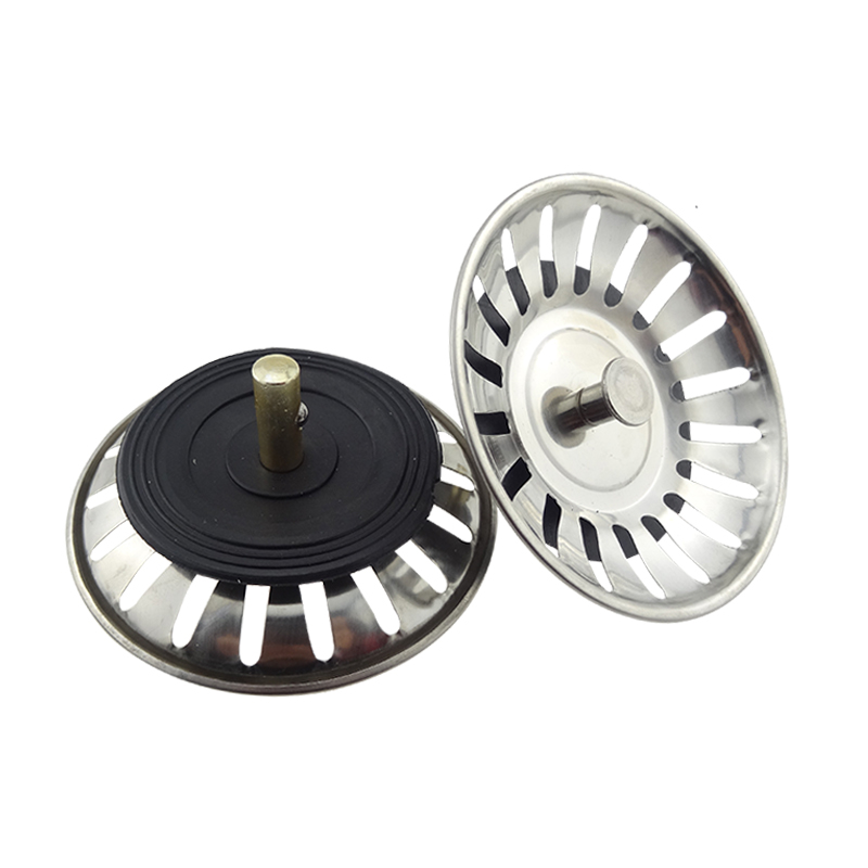 High Quality 1pc 304 Stainless Steel Kitchen Sink Strainer Stopper Waste Plug Sink Filter Drains Bathroom Basin Sink Drains