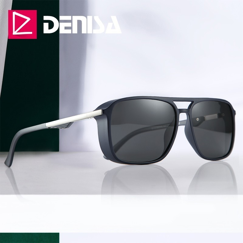 DENISA 2019 TR90 Frame Tony Stark Sunglasses Square Polarized Iron Man Sunglasses Driving Glasses Eyewear Accessories UV400T9110