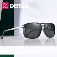 DENISA 2019 TR90 cadre Tony Stark lunettes de soleil carré polarisé fer homme lunettes de soleil conduite lunettes accessoires lunettes UV400T9110