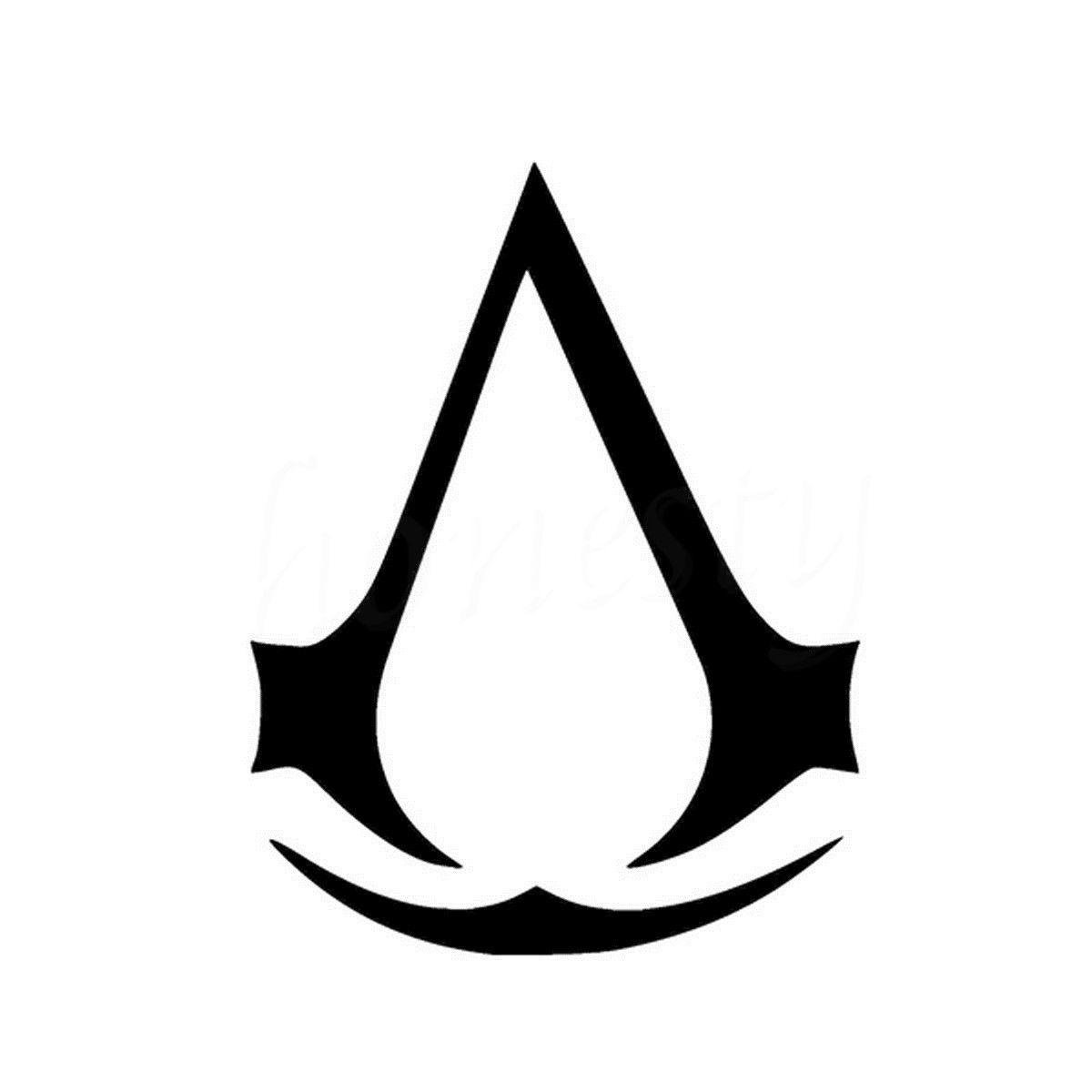 Assassins Creed Wall Home Glass Window Door Car Sticker Laptop Truck Motorcycle Vinyl Black Decal Sticker Decor 11.5cmX14.8cm