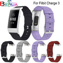Replacement Woven Canvas Fabric Watch Band Wrist Strap For Fitbit Charge 3 gear  classic watch strap breath band