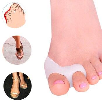 2Pcs/Pair Toe Seperator Foot Care Tool Silicone Gel Big Toe Bunion Thumb Pedicure Orthopedic Hallux Valgus Corrector Alignment Body Care
