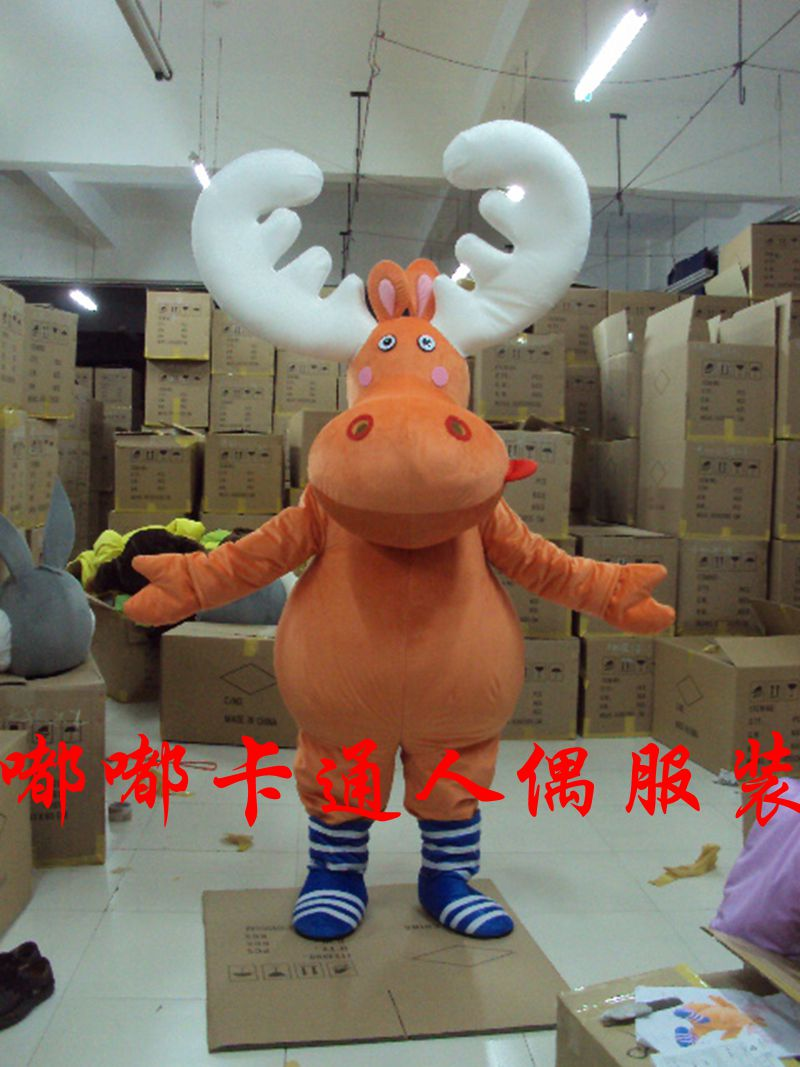 Elk Deer mascot Costume Christmas Cosplay Suits Funny Dress Mascot Costume Halloween Party Carnival Fancy party Dress