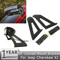 """A pair of 50"""" Curved Led Light Bar Upper Windshield Mounts Mounting Brackets For Jeep Cherokee XJ 1984~2001"""