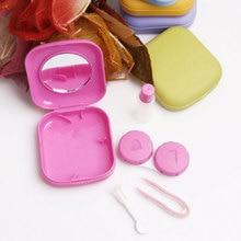 Easy Take Container Holder Hot sale 2019 Cute Portable  1Pc 5 Color Transparent Pocket Plastic Contact Lens Case Travel Ki