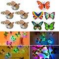 5 unids Intermitente Mariposa luz de la noche de las luces de noche Encantador Creativo Que Cambia de Color ABS Lámpara de Noche LED Nightlights Decorativos