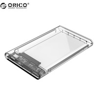 ORICO 2139C3 Hard Drive Enclosure USASP Type C 2 5 Inch Transparent USB3 1 Hard Drive