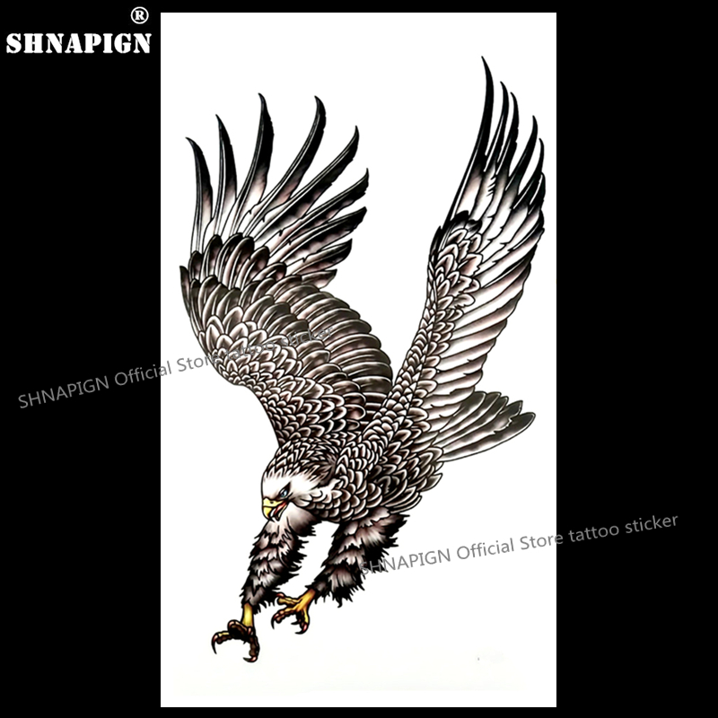 SHNAPIGN Eagle wings Temporary Tattoo Body Art Arm Flash Tattoo Stickers 17*10cm Waterproof Fake Henna Painless Tattoo Sticker
