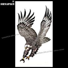 hot deal buy eagle wings temporary tattoo body art arm flash tattoo stickers 17*10cm waterproof fake henna painless tattoo sticker
