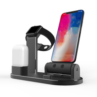 Free Gift 2 Cables for 3in1 Charging Dock Station Phone Holder Desktop Aluminium Alloy Holder for iPhone for iWatch for Airpods